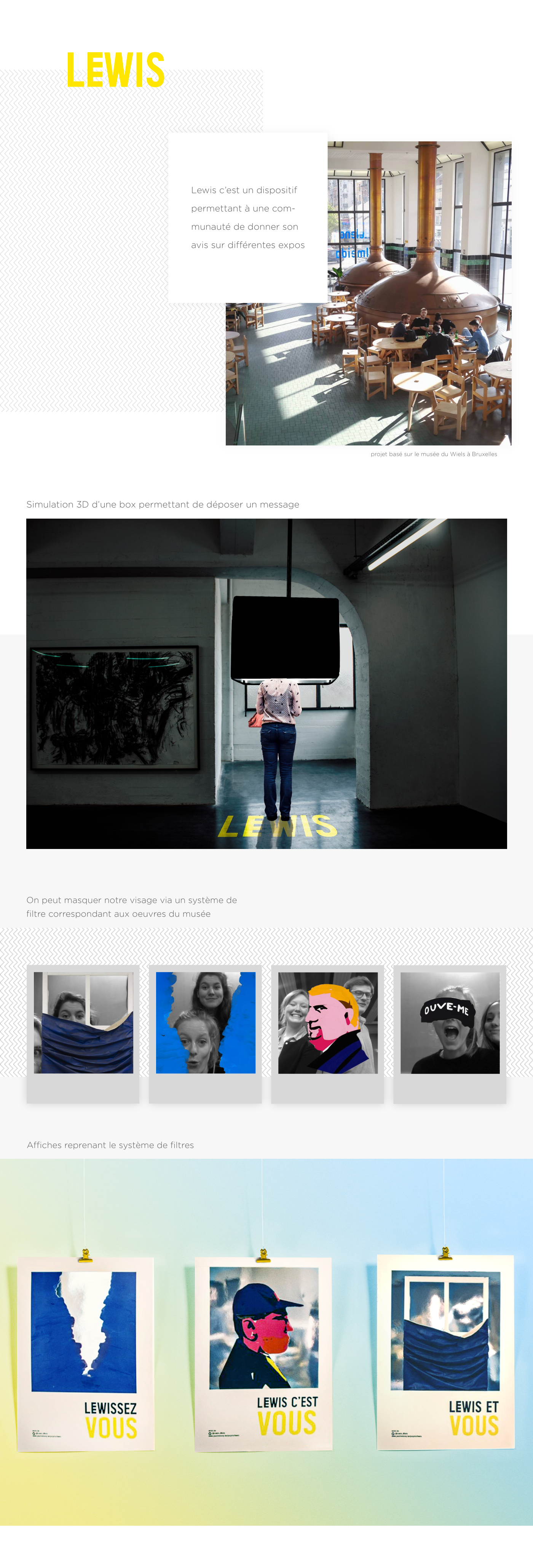museum graphic Website poster filters