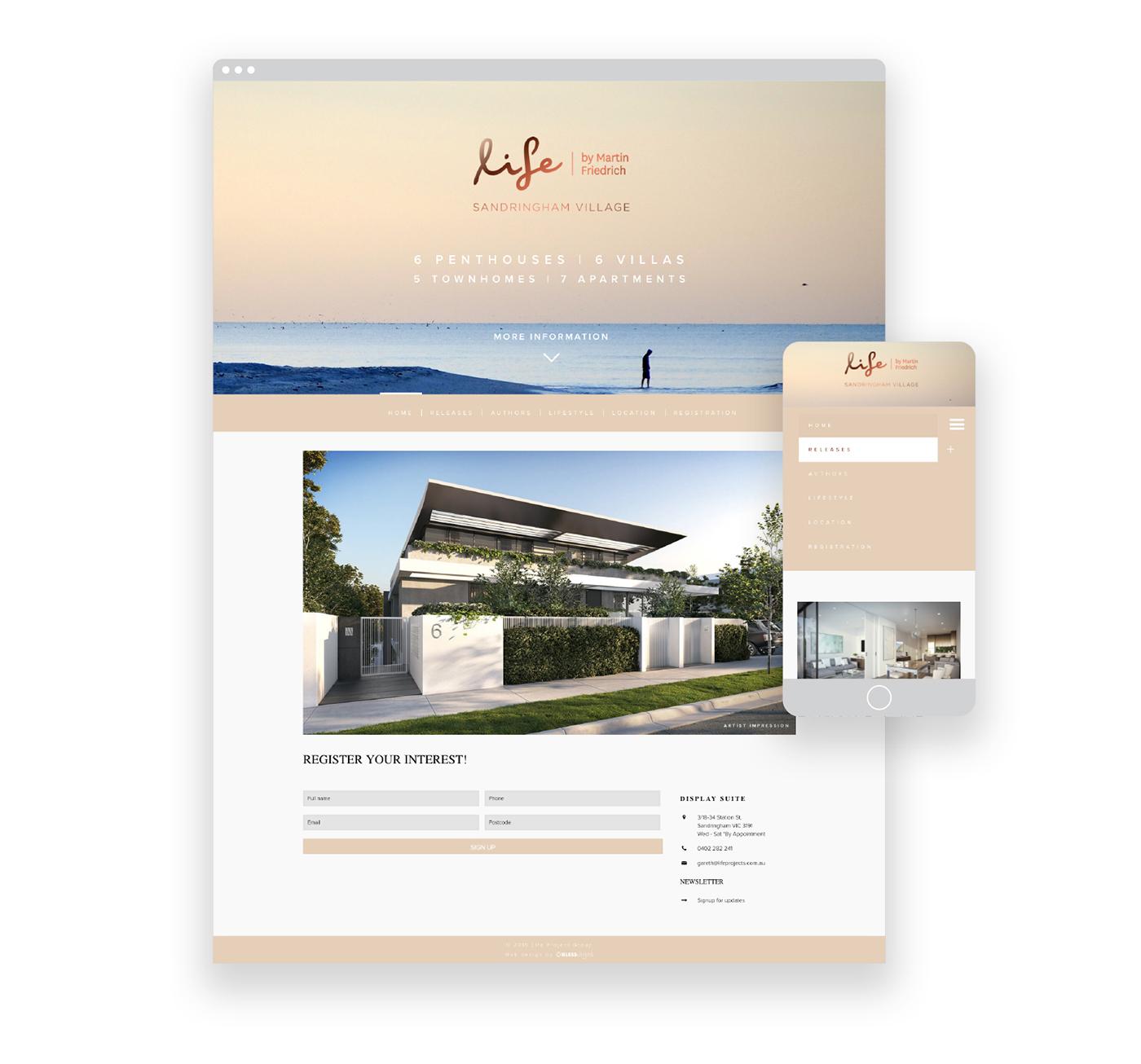 branding  luxury marketing   brochure Website foil appartments