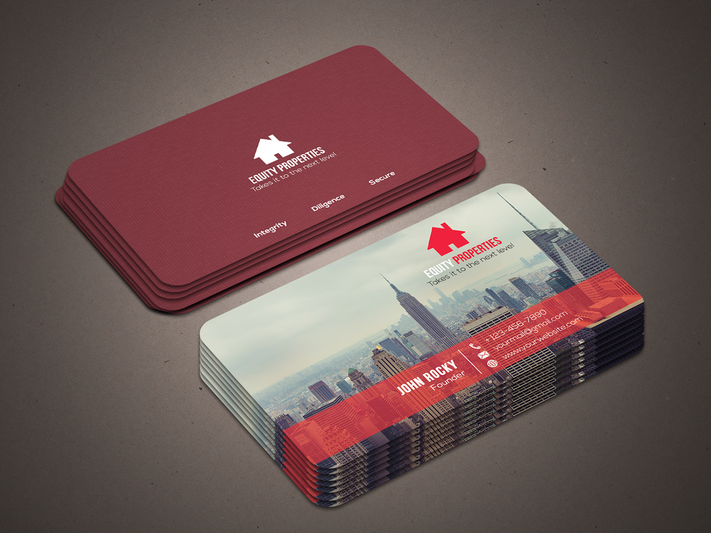 real estate business card on behance