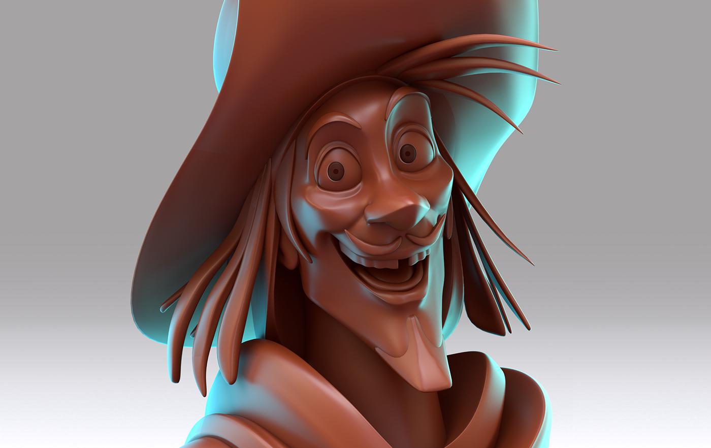 Hansel gretel boris book model 3D ilustration wizard Character