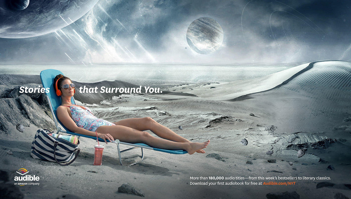 Audible: Stories that Surround You on Behance