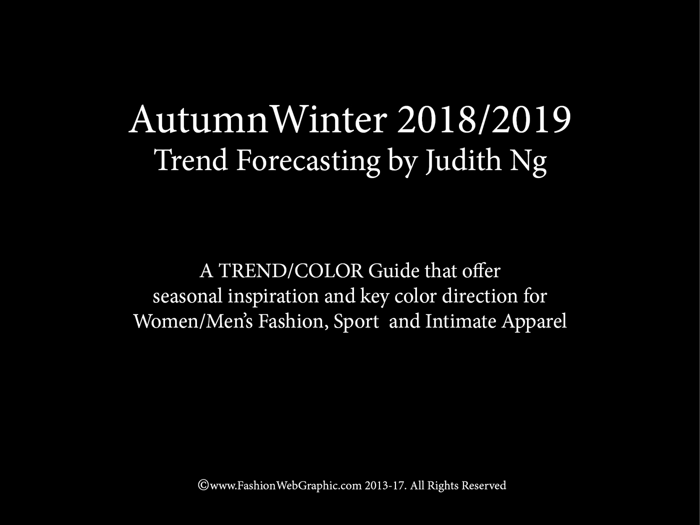 Trend forecasting fashion 2018 2
