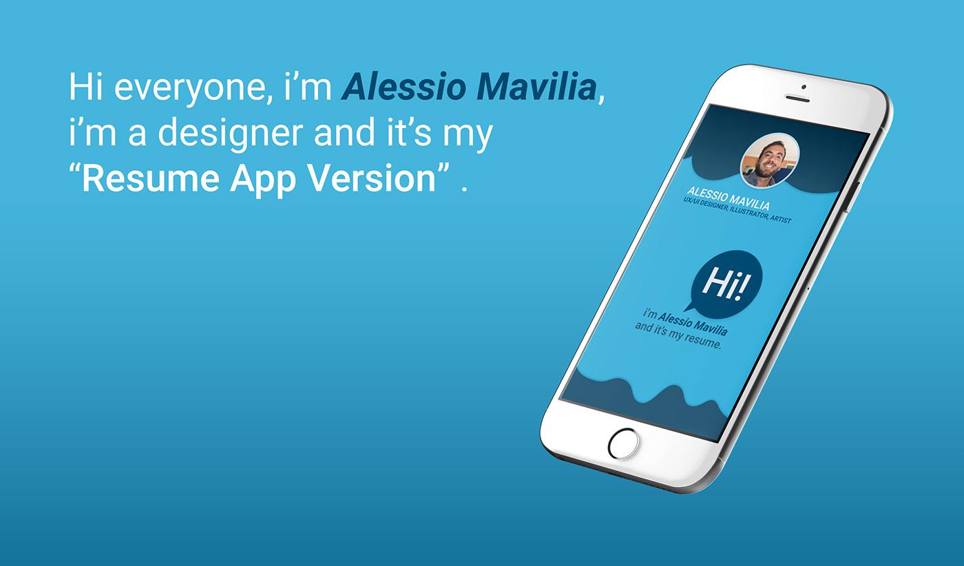 Resume App Version On Behance