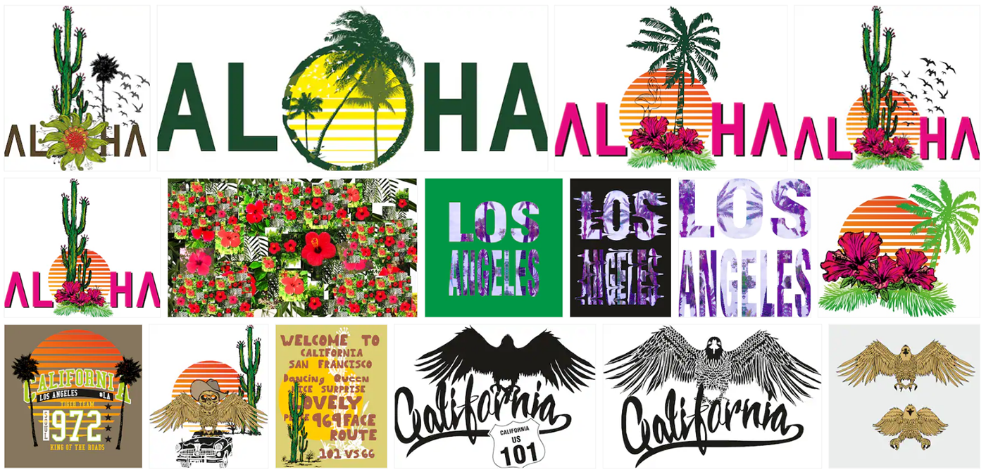 Aloha vector graphic design on Behance