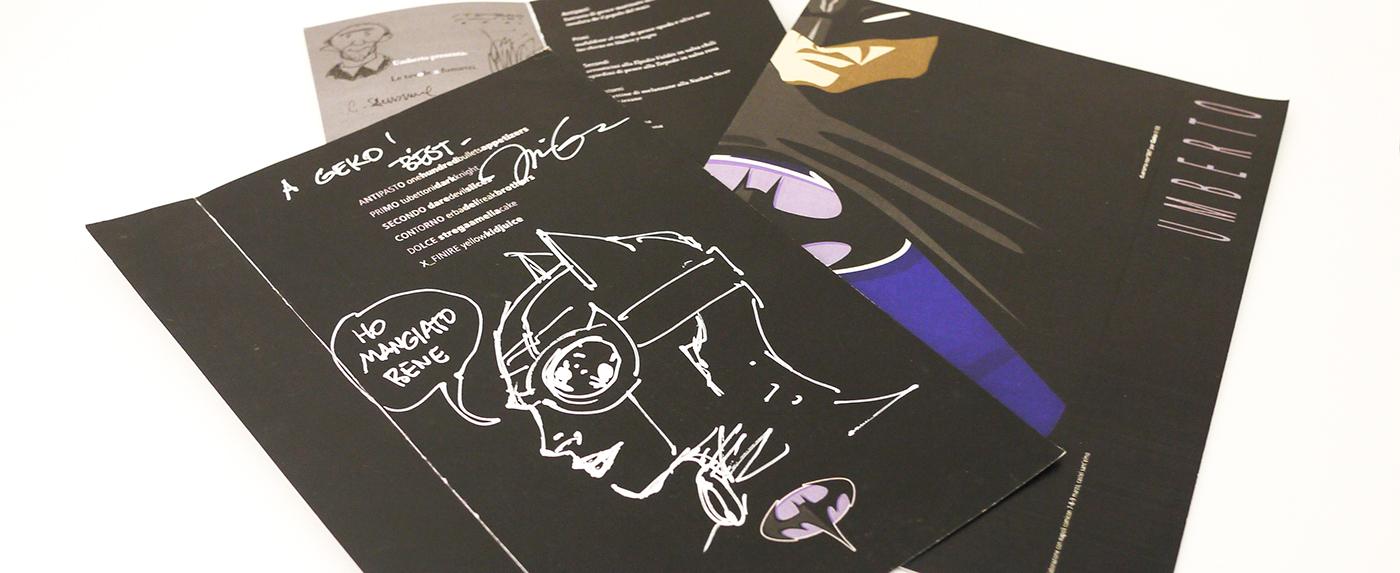 umberto  batman  geko  menu illustrations comics
