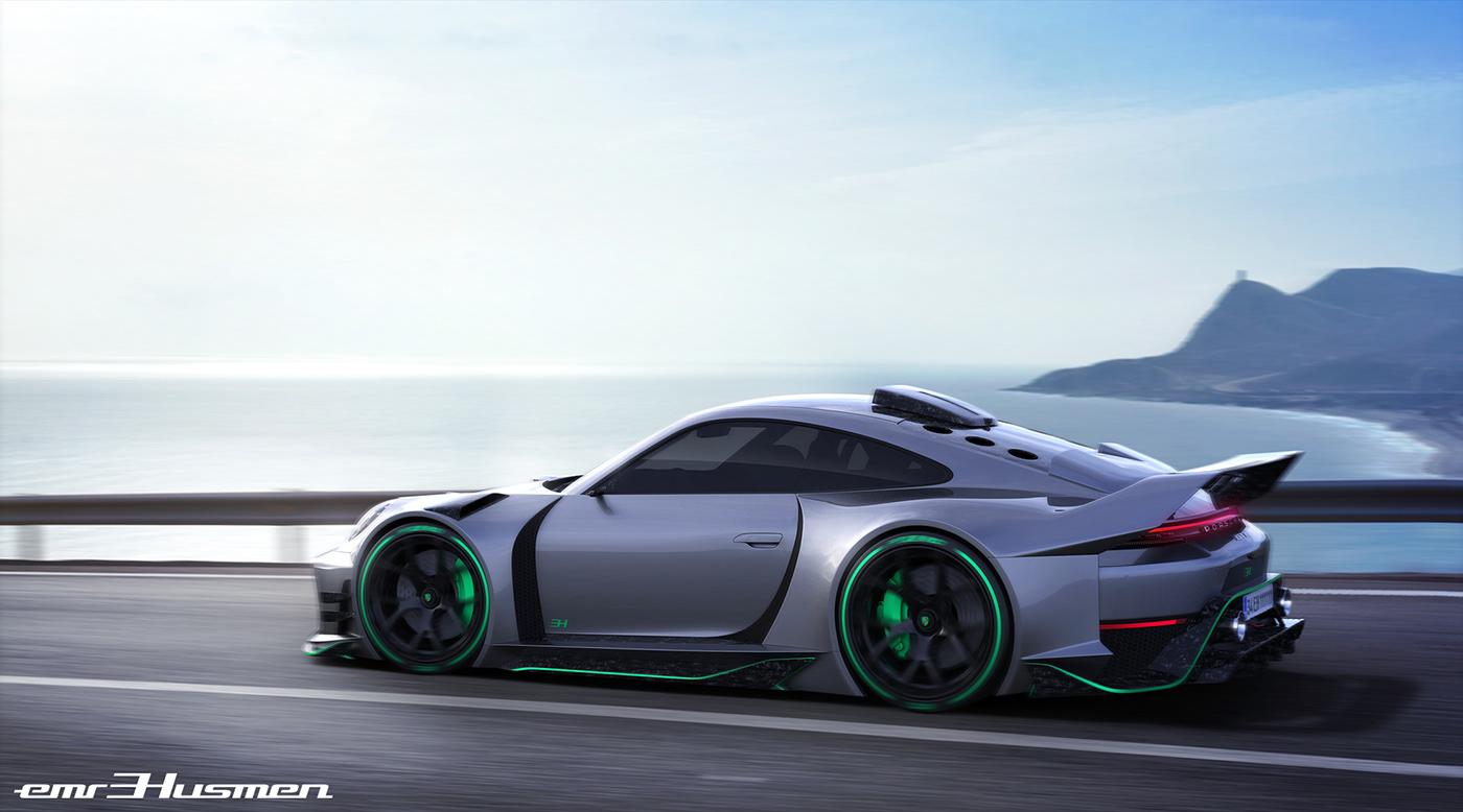 Concept 2 Model D >> Porsche 911 GT1 concept on Behance