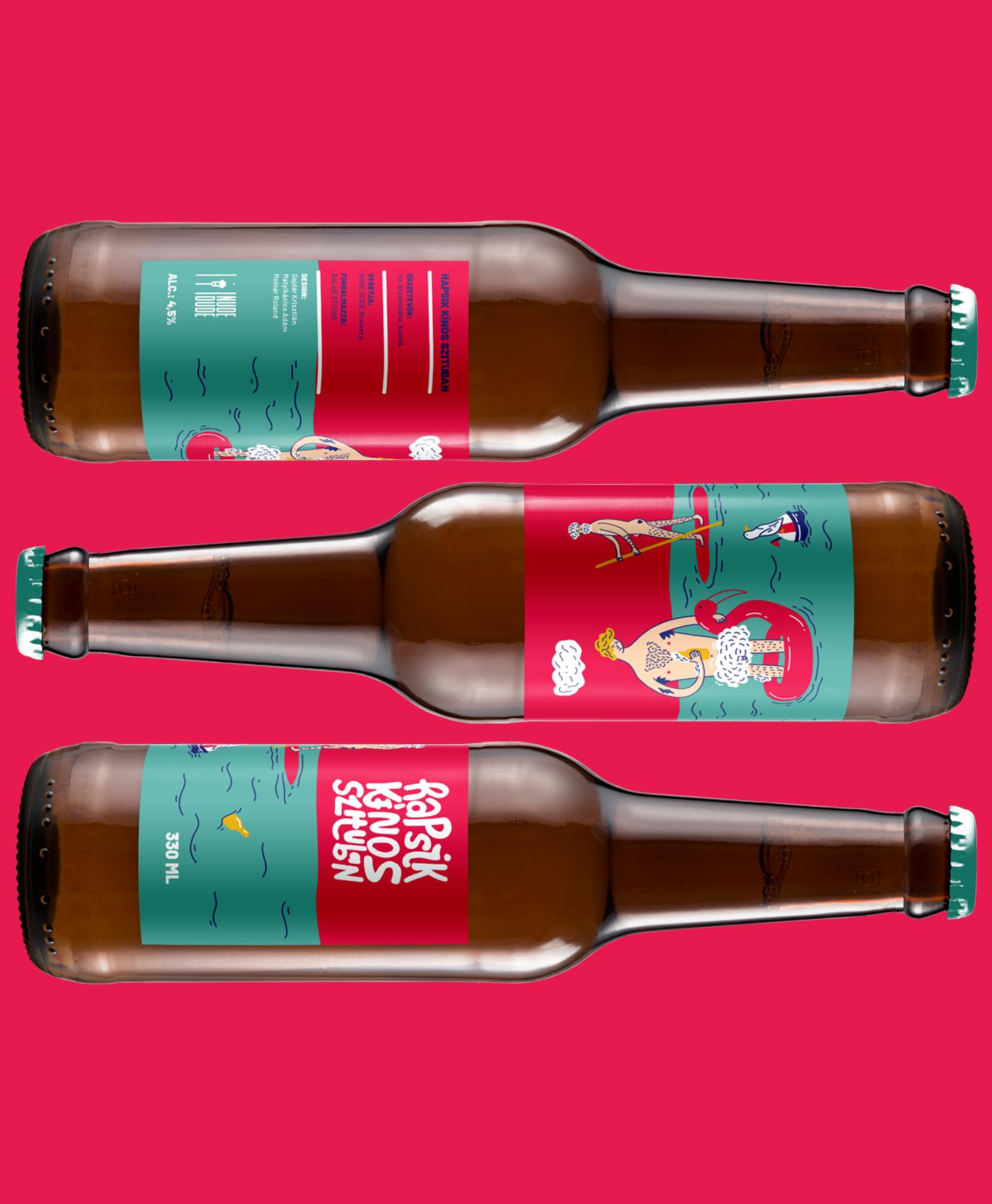 beer craft package design summer mood guys typography   ILLUSTRATION  Handlettering