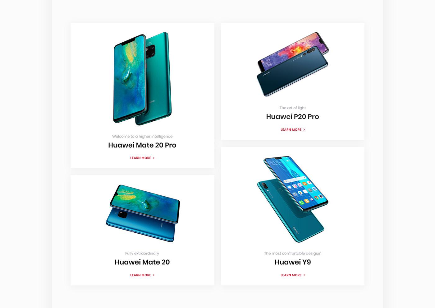 Web Design  online store ui ux huawei Web Store design phone mobile concept store