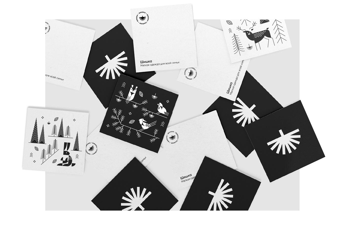 animals brand cone family forest identity logo Nature taiga wear