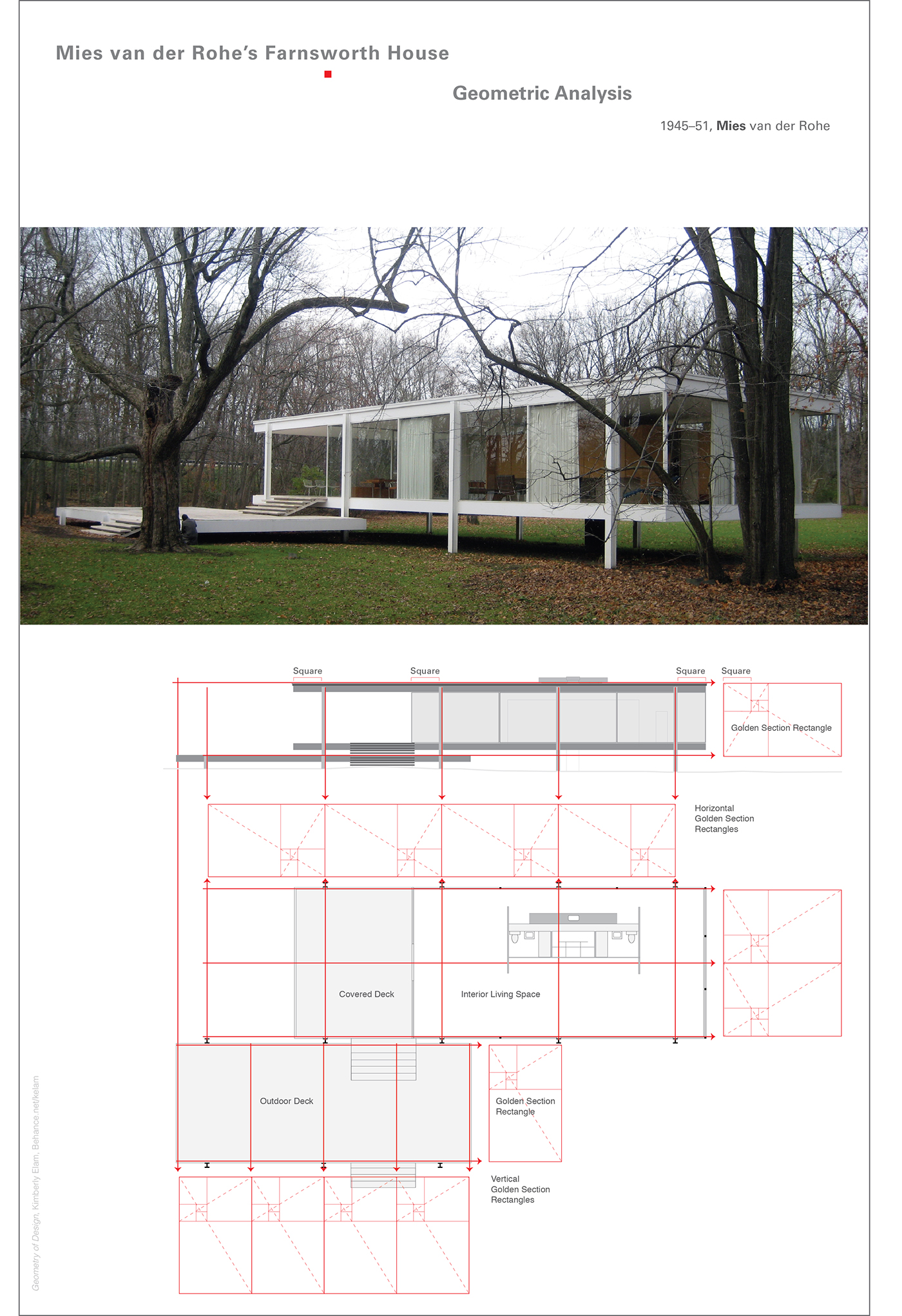 Mies Der Rohe Farnsworth House Plan der rohe s farnsworth house geometric analysis on behance