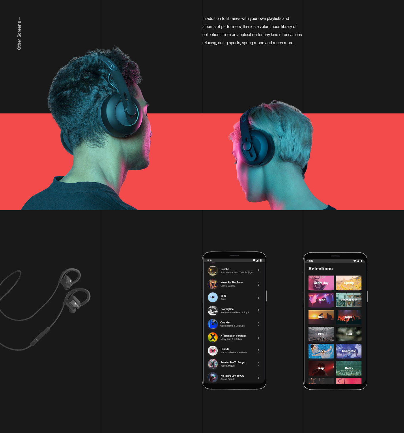 design application music Interface UI/UX interaction Web animation  mobile
