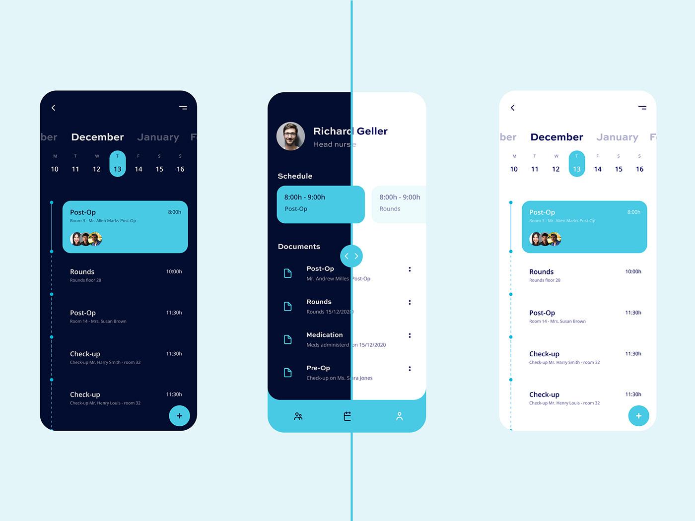 app mobile UI