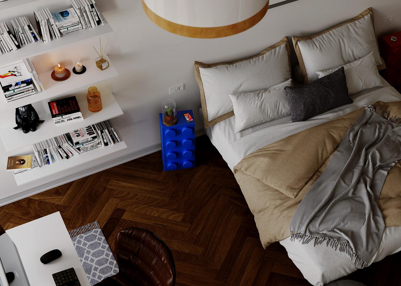 adobephotoshop Archivz cinema4d CoronaRender  Fotorrealismo Interiorismo MarvelousDesigner Render room