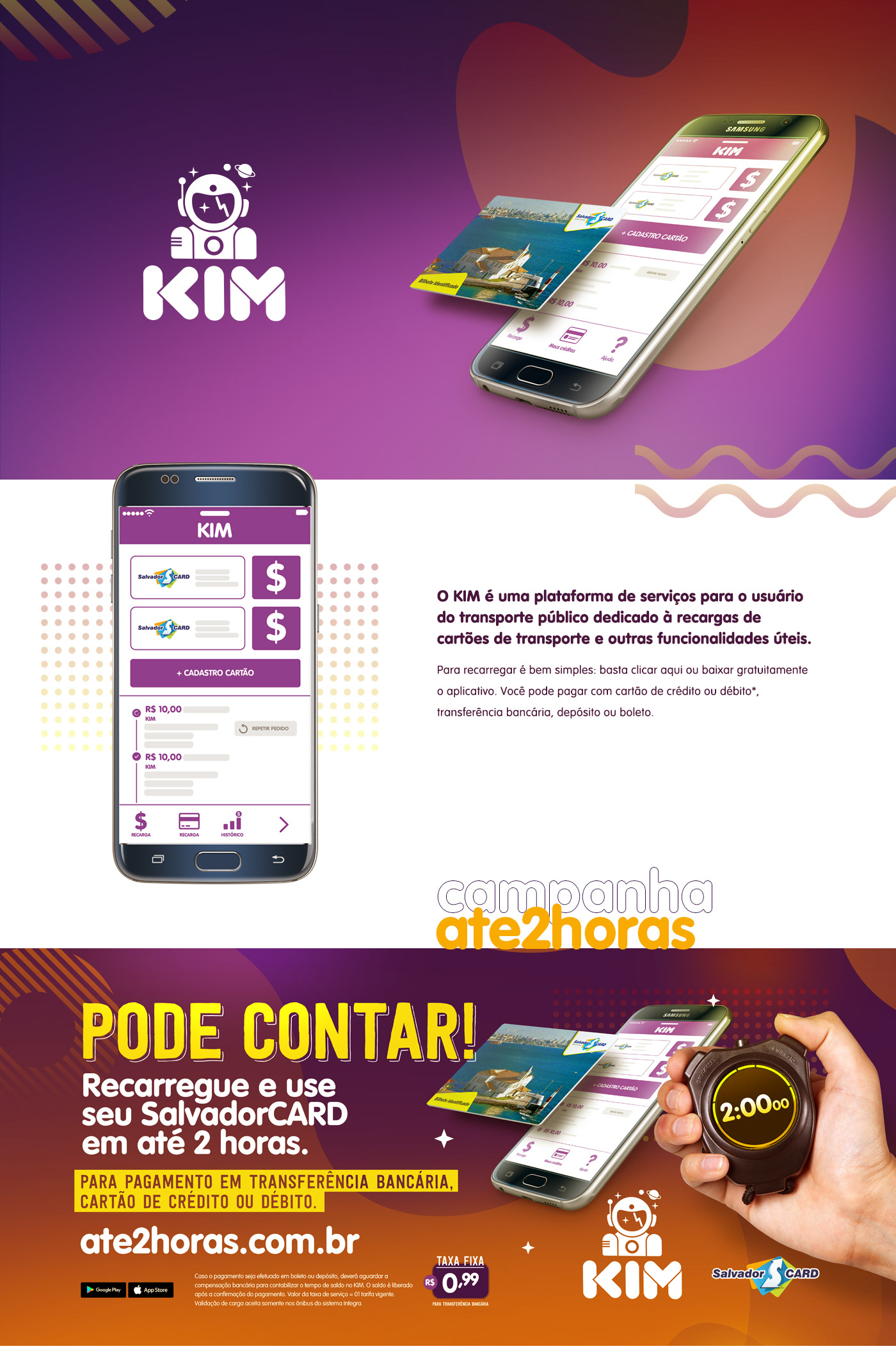 mobile RECHARGE kim onibus transporte mobilidade