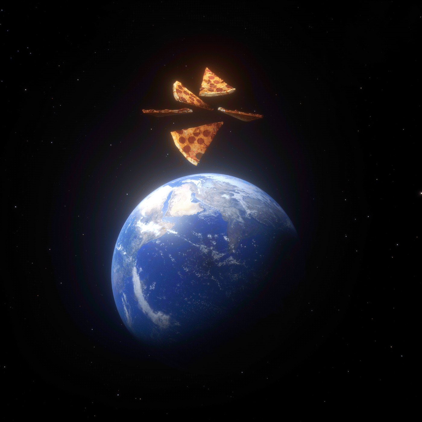 Cyberpunk earth independence day Pizza Sci Fi sci fi pizza Space  world