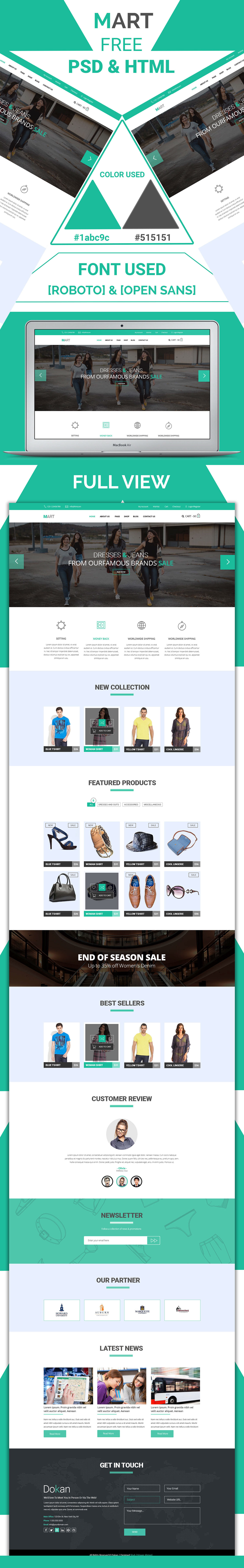 psd free freebie bootstrap clean Ecommerce HTML Responsive shop clothes HTML Template UI ux css3 store