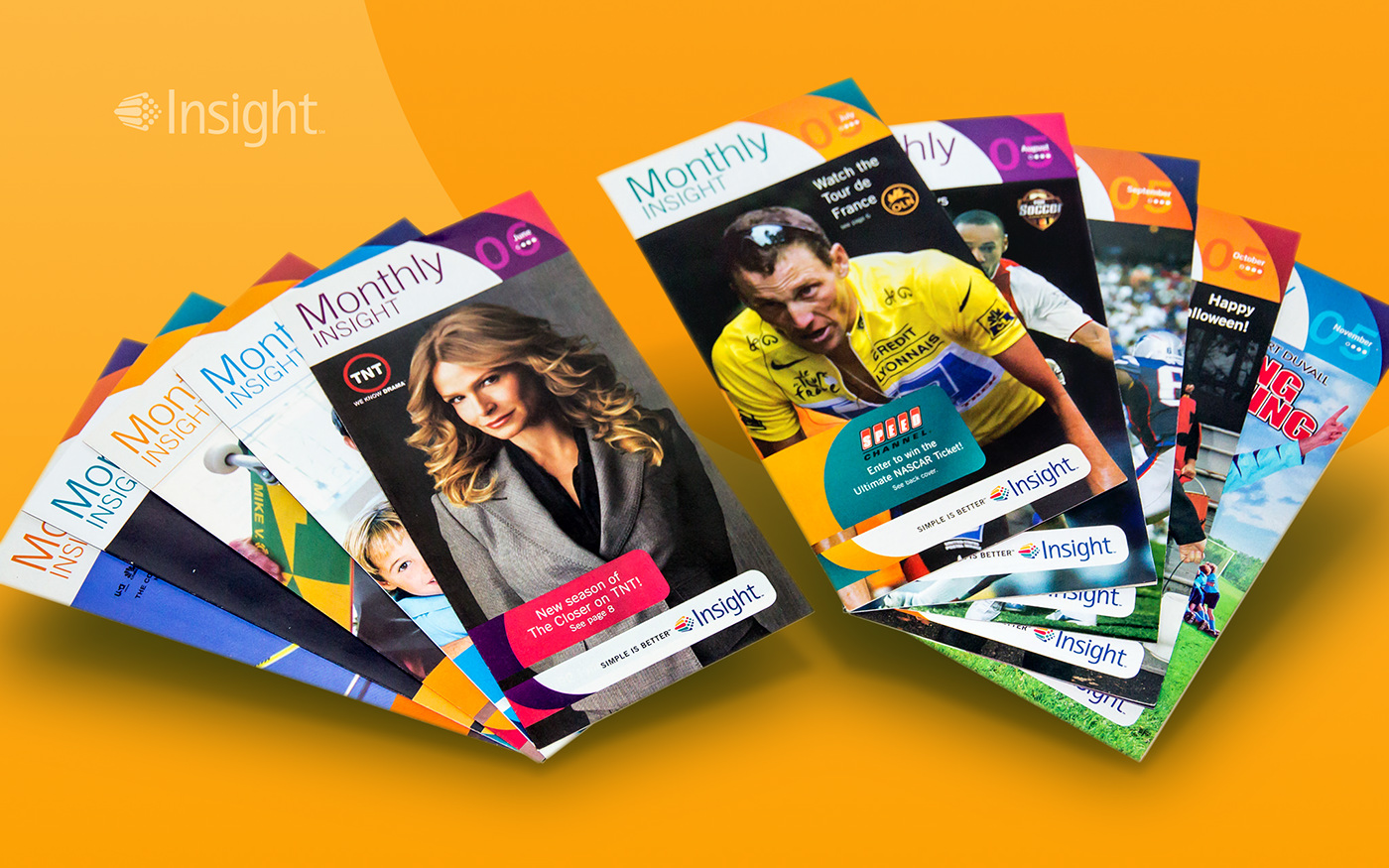 Insight communications digest newsletter Direct mail monthly Cable mso hdtv road runner dvr OnDemand