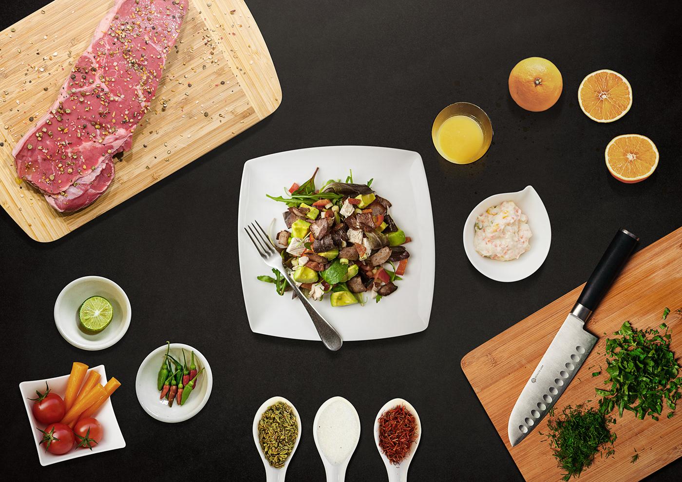 Matte-painting photoshop Food  design