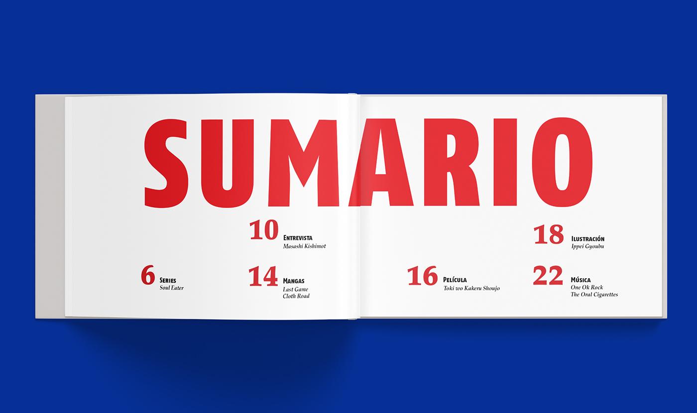 revista magazine Diseño editorial editorial design  design diseño gráfico graphic design  JAPON japan animacion