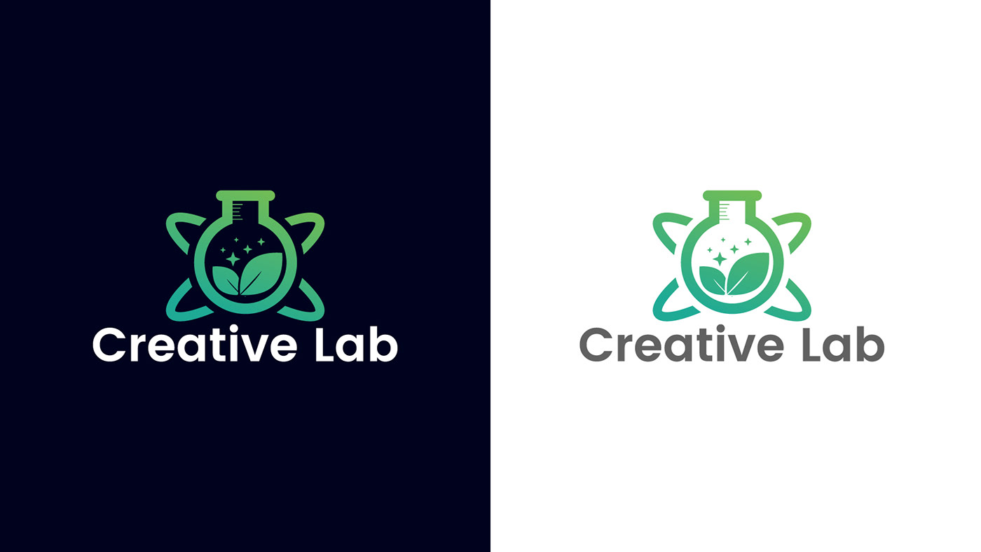 lab logo design in adobe illustrator on behance
