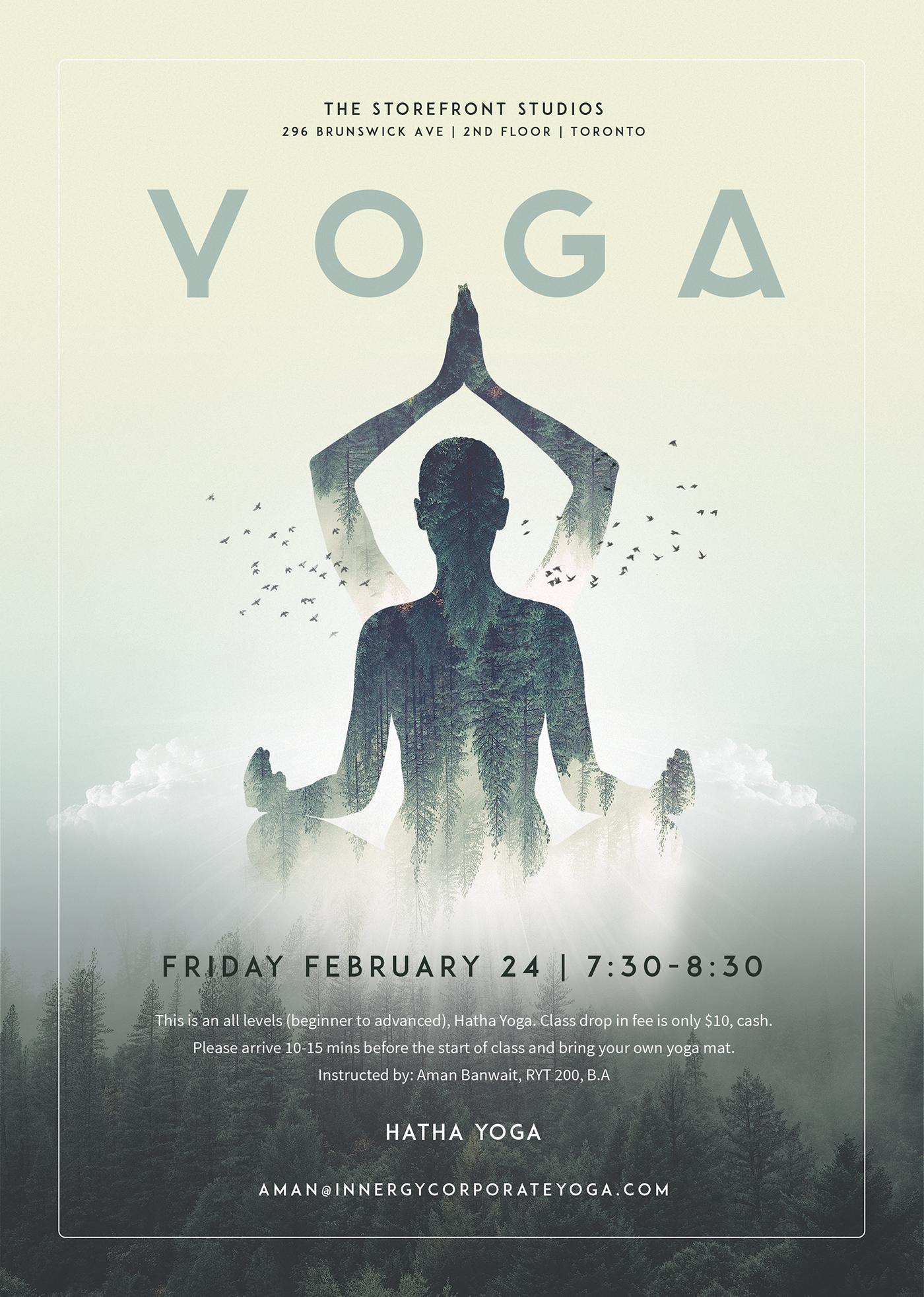 Hatha Yoga Digital Poster Design