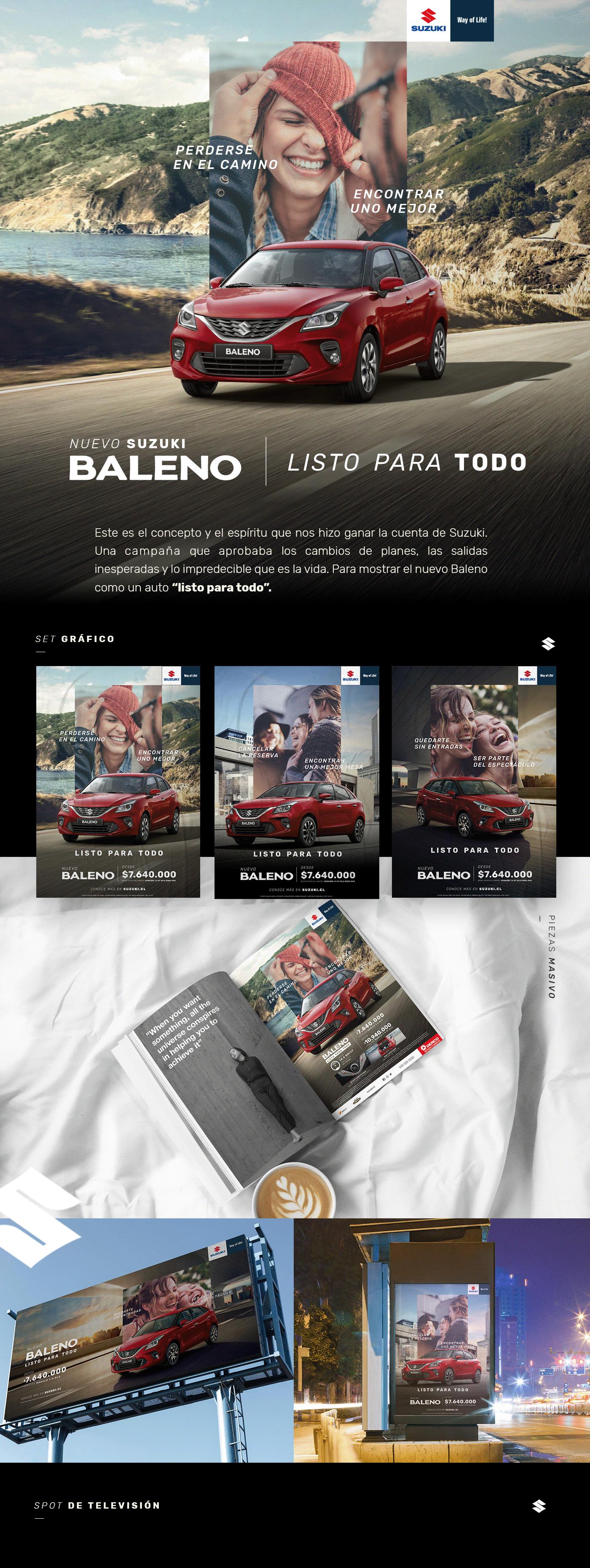 Advertising  ArtDirection Baleno Bidding Cars concept copywrite Suzuki suzukichile suzukimotor