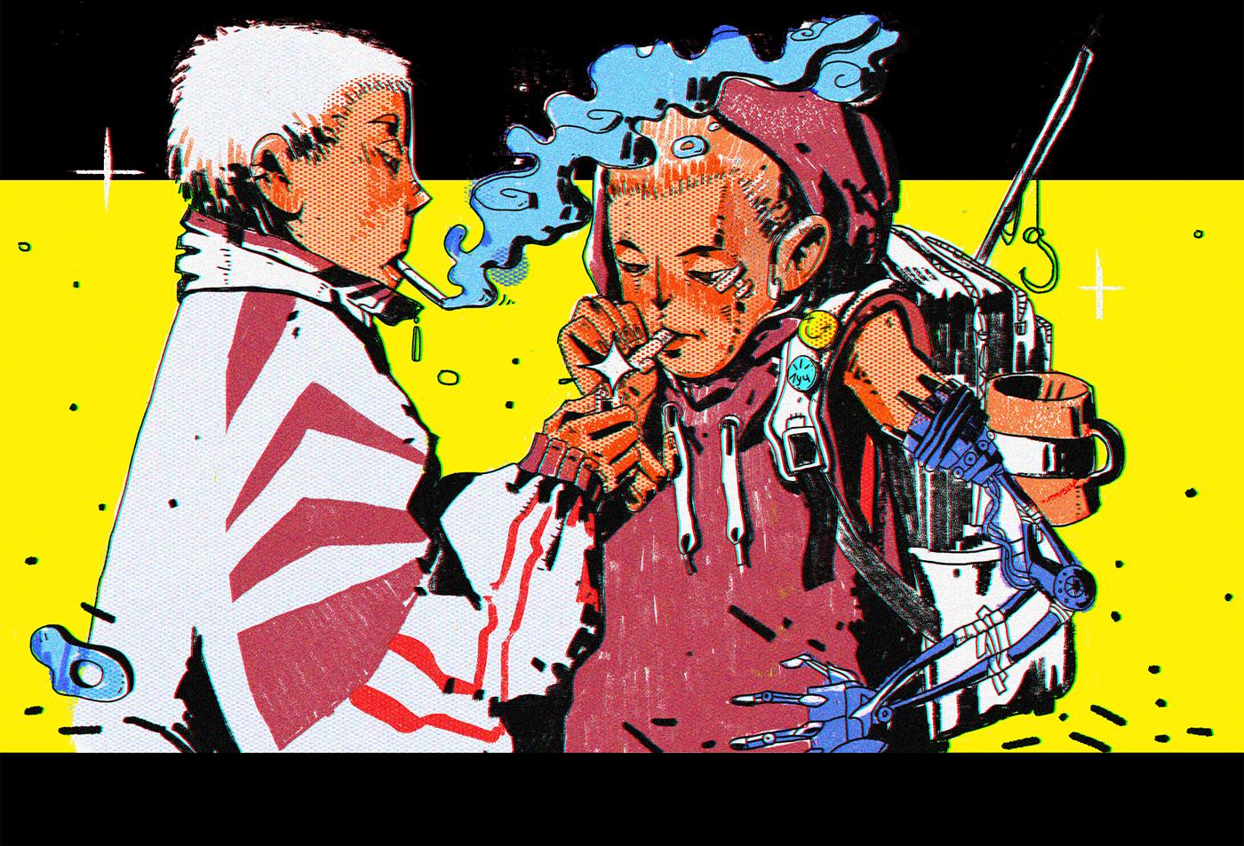 art Character cartoon ILLUSTRATION  manga comics draw photoshop