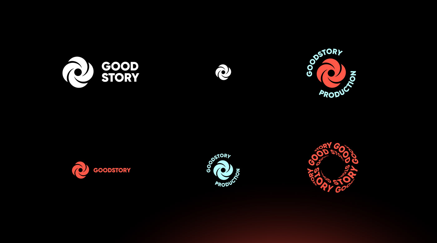 brand identity kinetic logo Production Space  star story typography   video