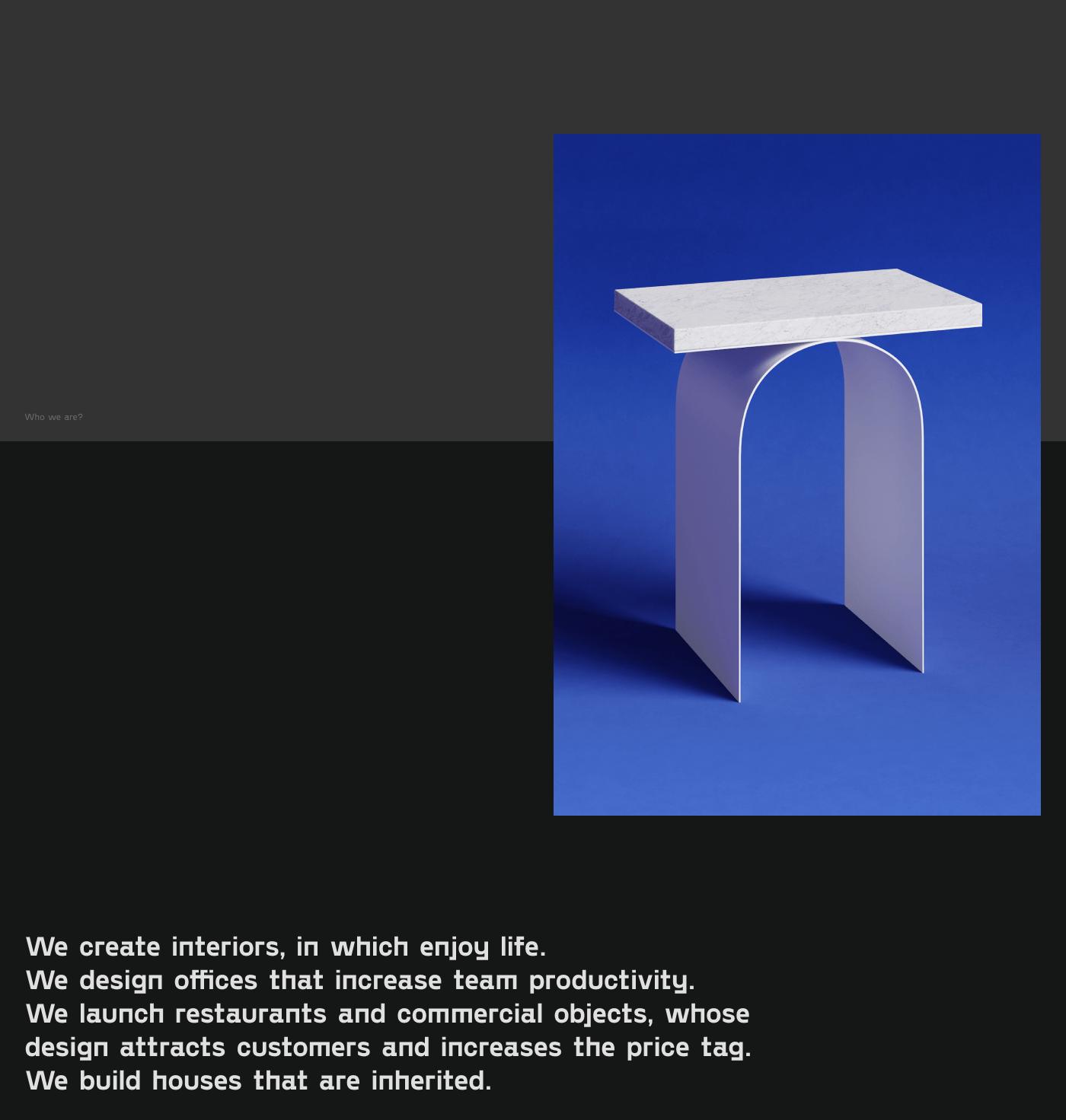 architecture Minimalism landing clean Web UI brutal Interior grid