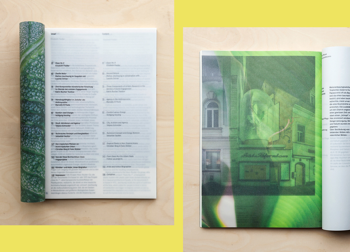 banana Urban book buch artist book architektur architecture yellow Transparency transparent
