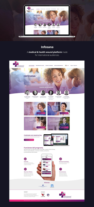 Health wound Platform visual UI/UX Web Design  web development