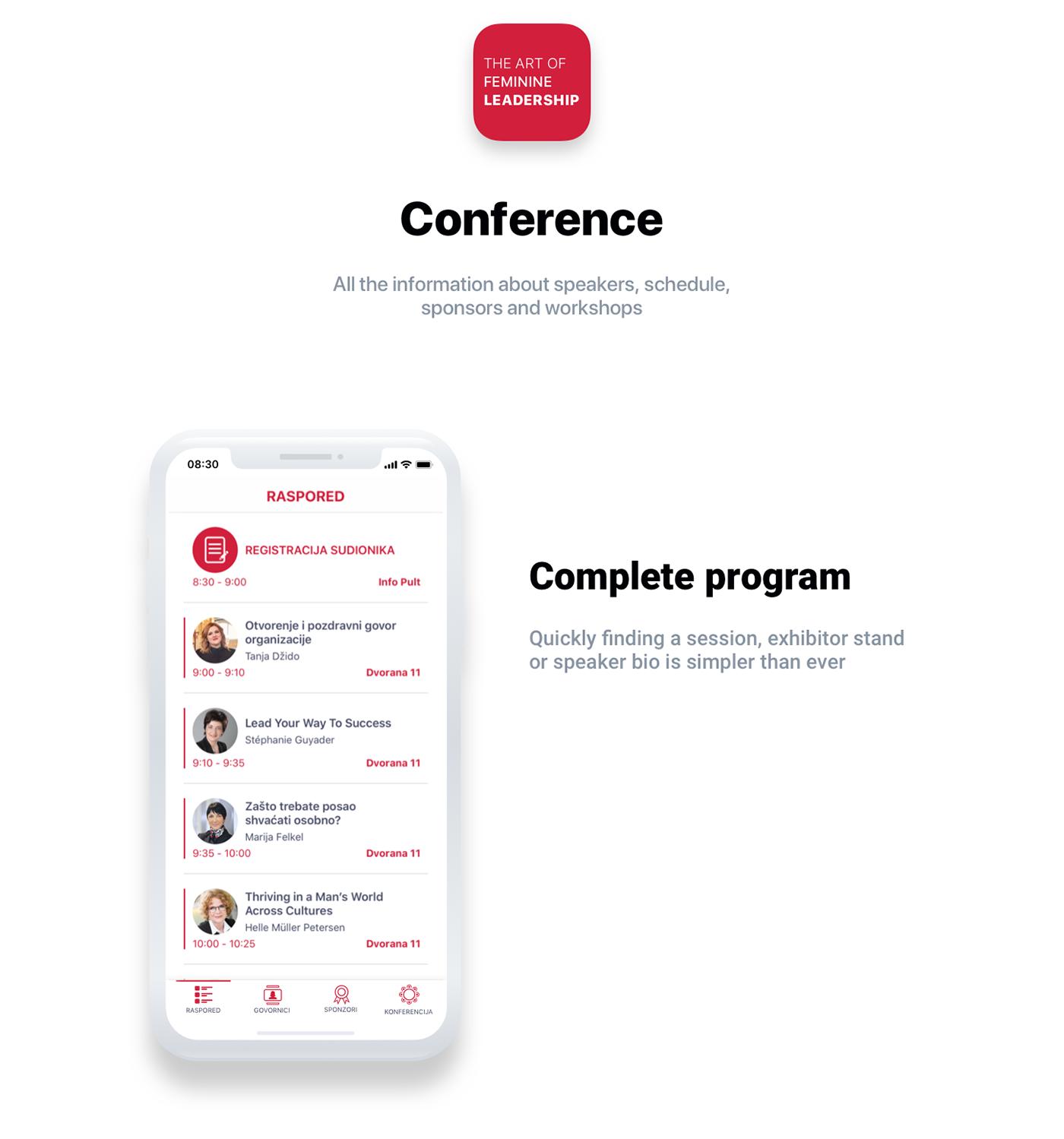 mobile Mobile Application app application ux UI ux/ui uxui conference Event