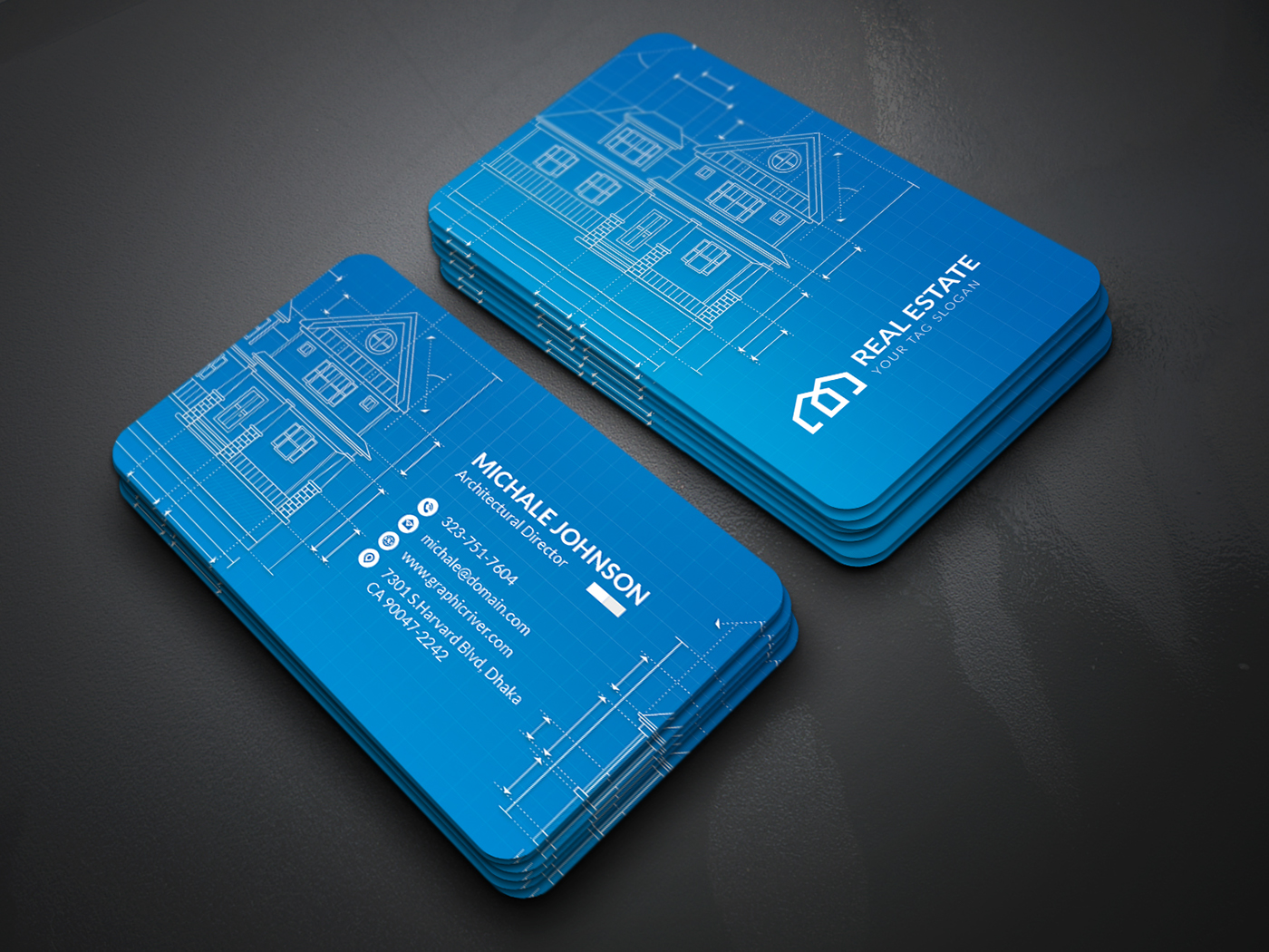 architecture business card free on behance - Architect Business Card