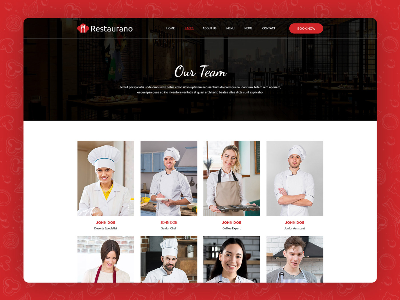 Cafe Website pizza website restaurant theme restaurat website
