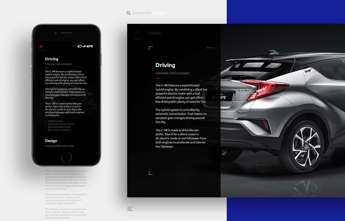 Website Campaign site car exclusive Toyota denmark Responsive Design Webdesign toyota rasmus black