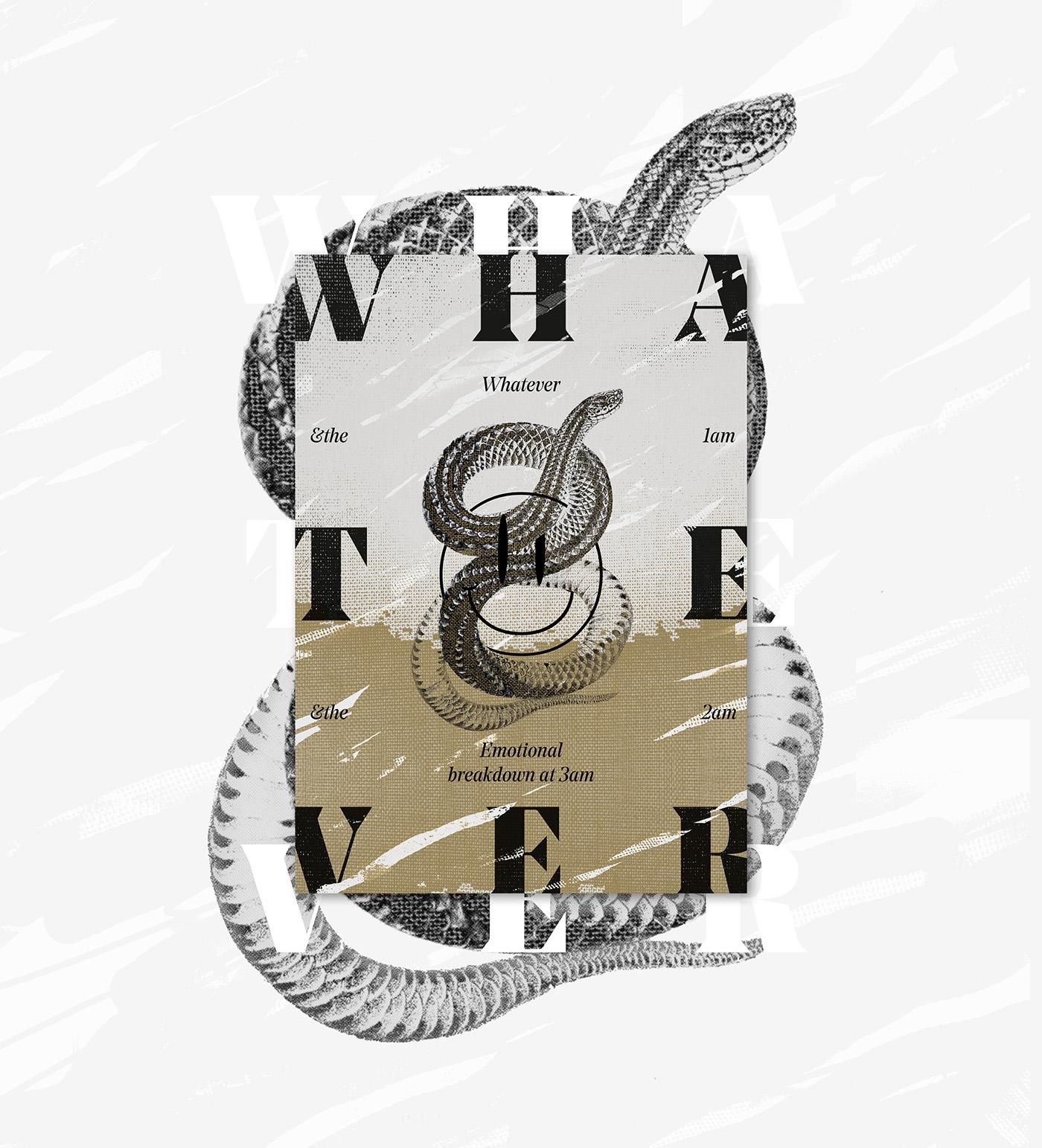 poster graphic design  instagram type Collection Layout series uba random aesthetic