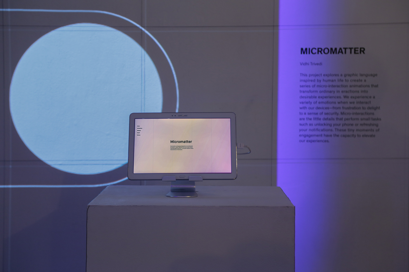adobeawards experience design UI/UX Microinteractions digital design interaction loaders language Exhibition  thesis