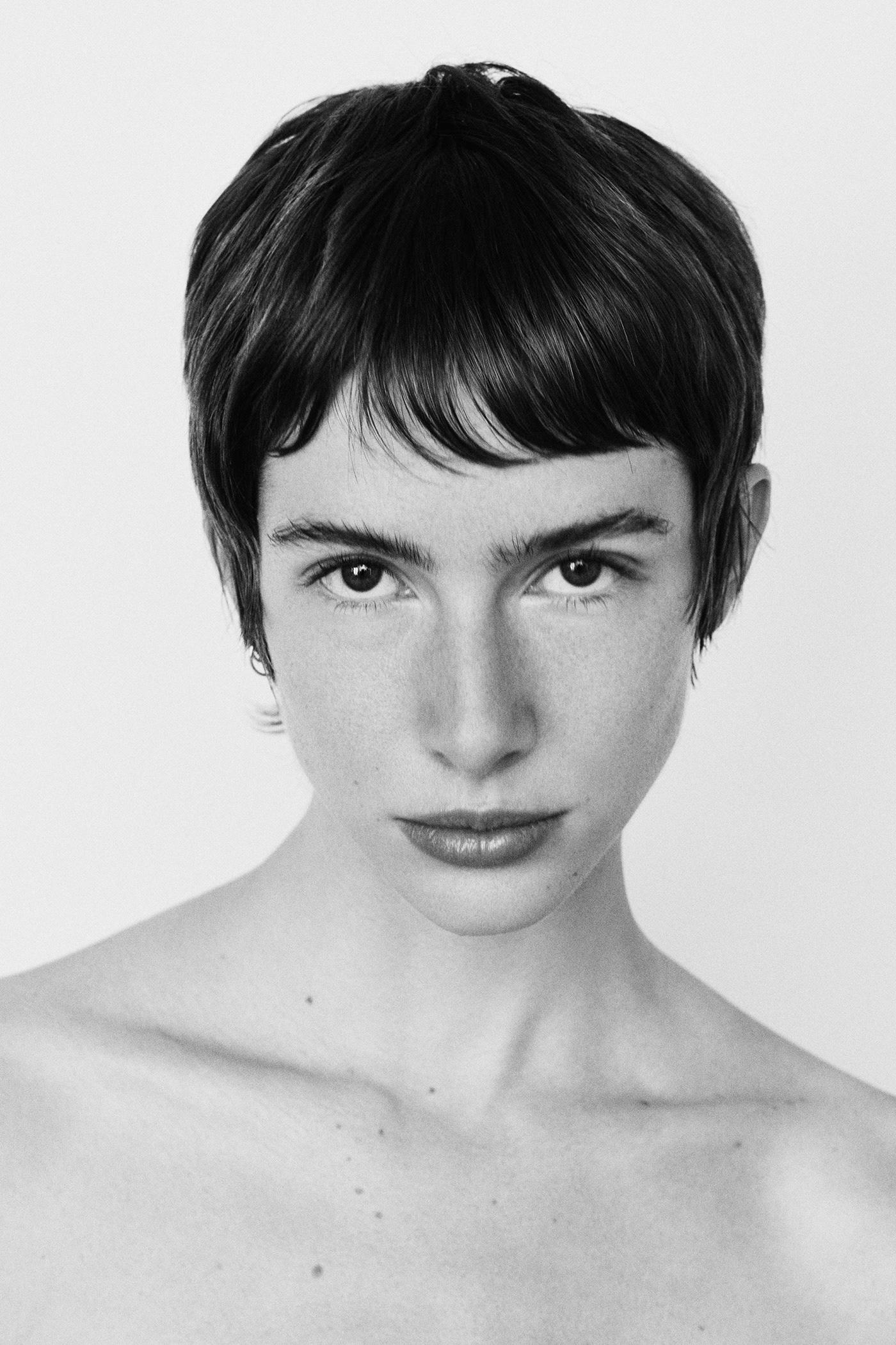 black and white fine art ivresses kaleidoscope model portrait prism