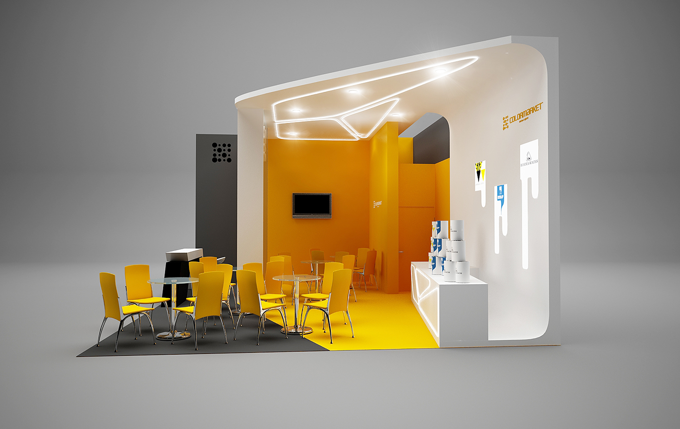 D Exhibition Stand : Colormarket exhibition stand on behance