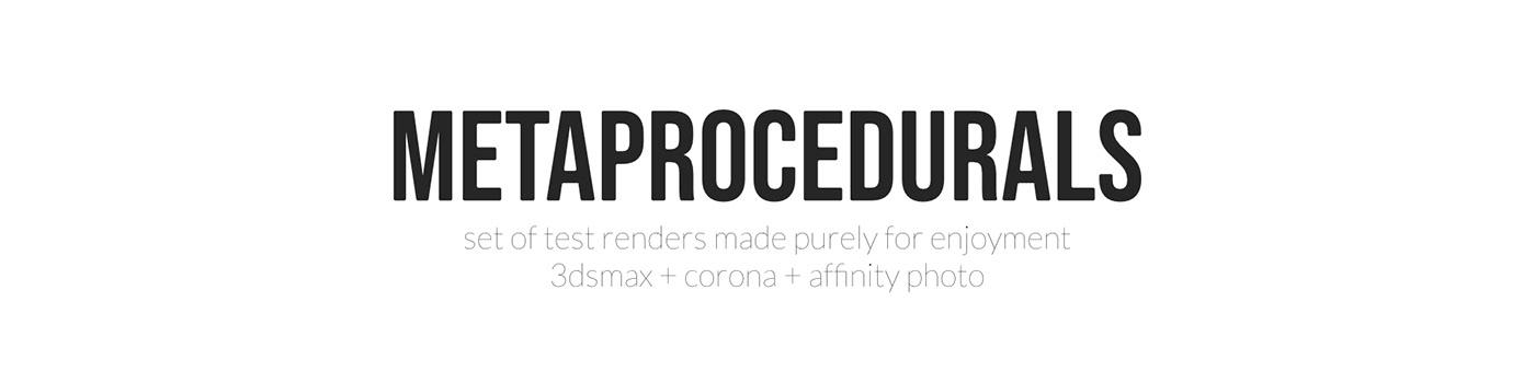 3D 3dsmax CGI corona materials metal rendering Shaders tests