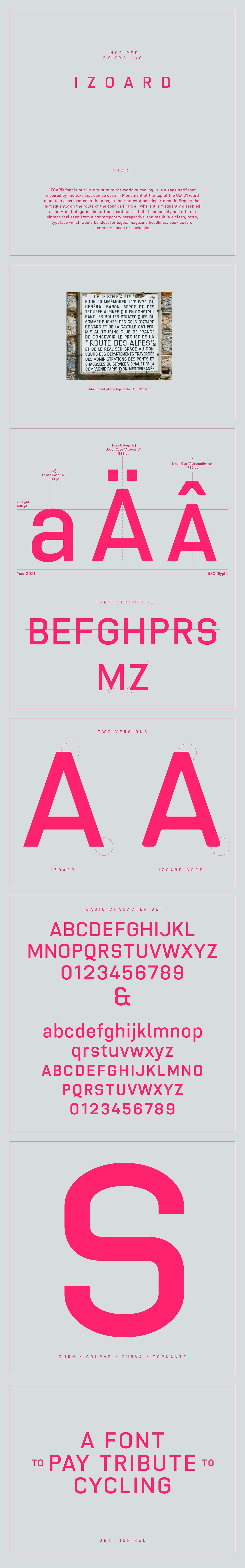 Cycling font sans serif Display poster vintage