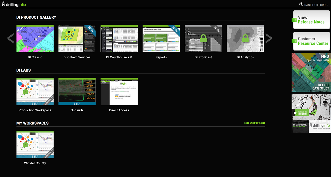 Drillinginfo Product Gallery On Behance