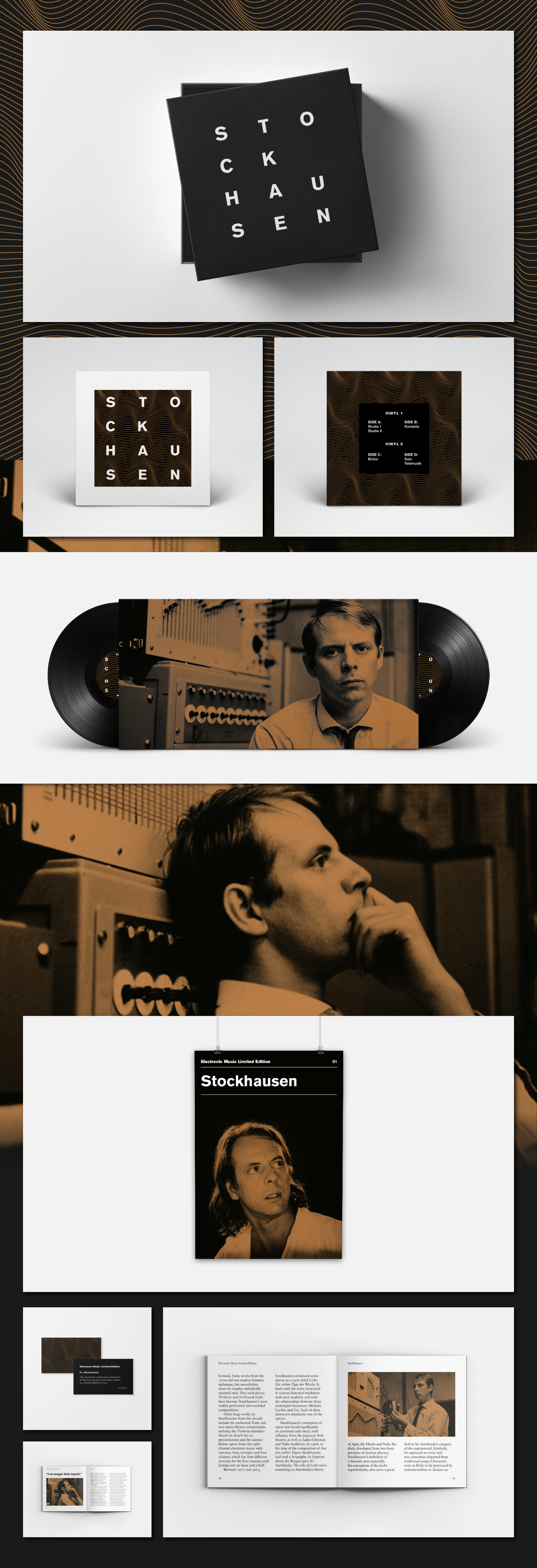 music electronic music limited edition Collection cover Booklet poster stockhausen kraftwerk Afrika Bambaataa