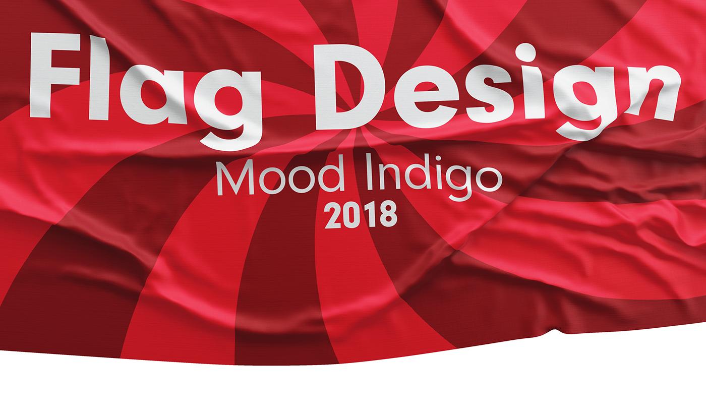 mood Indigo flag MUMBAI iit Bombay idc mockups cloth adobeawards