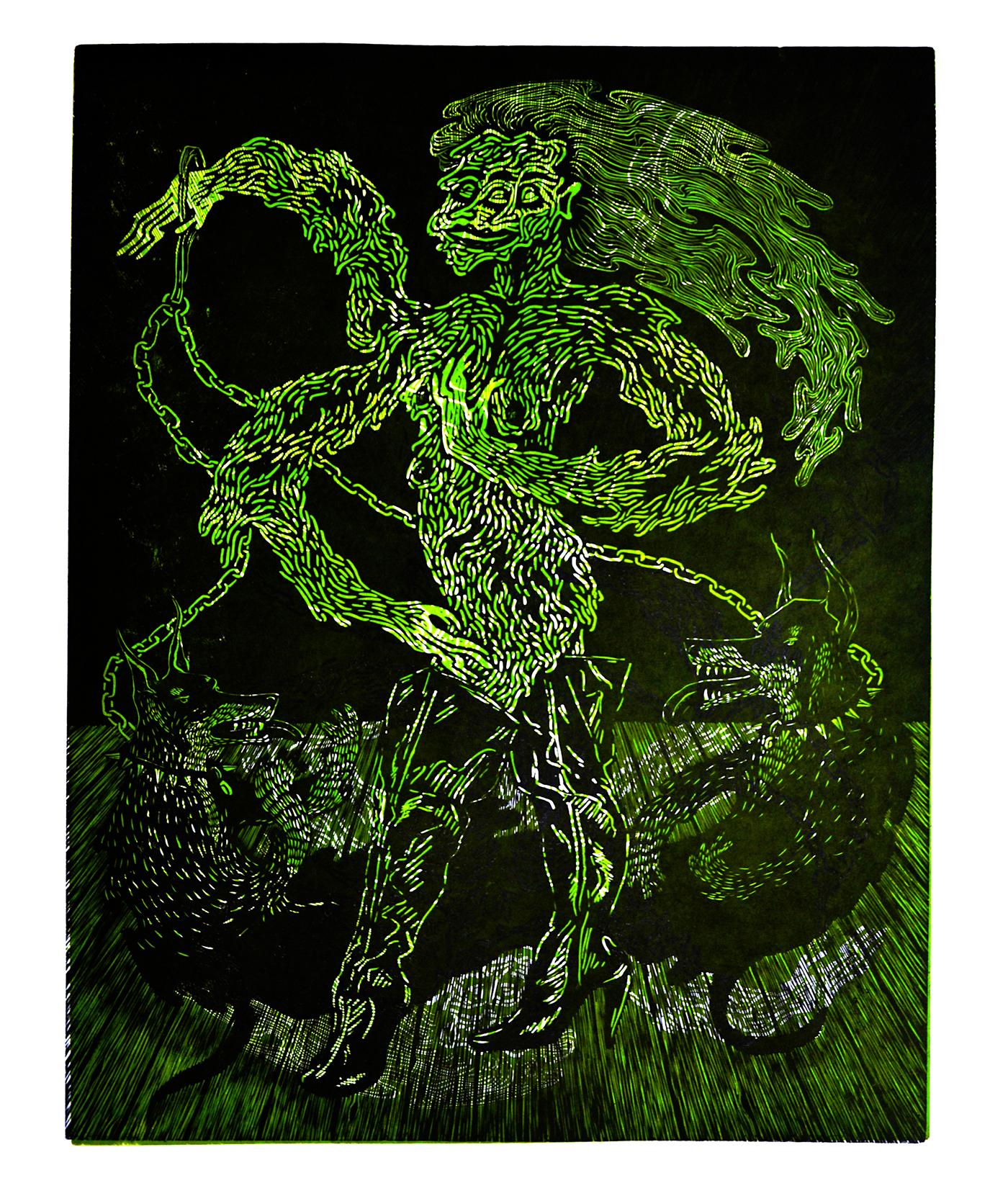 printmaking screenprint linoleum relief printing design