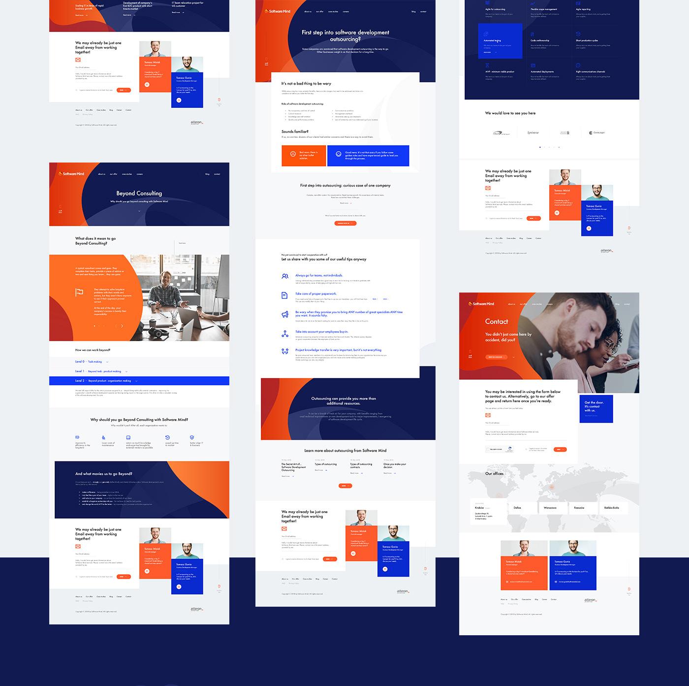 Web Design Process for Software Mind