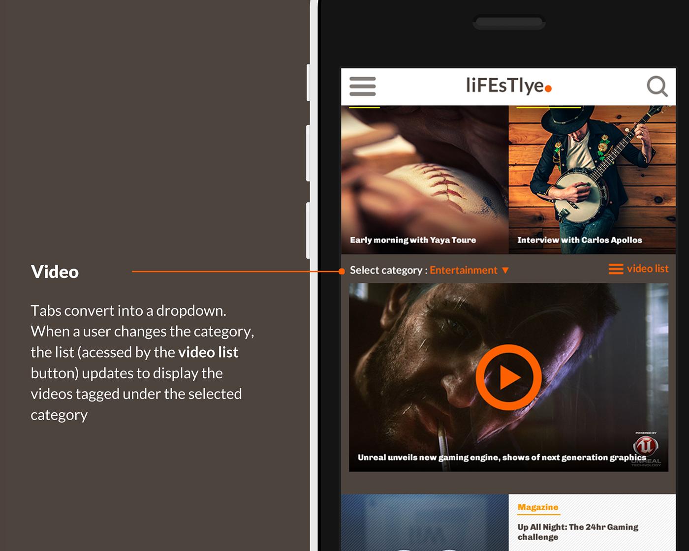magazine Responsive ios iphone bootstrap lifestyle