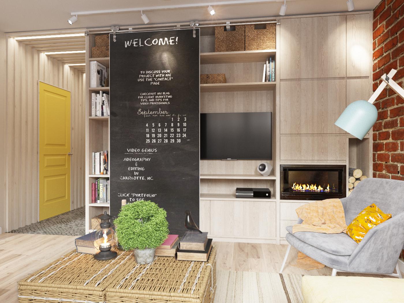 【国外作品 】小清新北欧风格公寓
