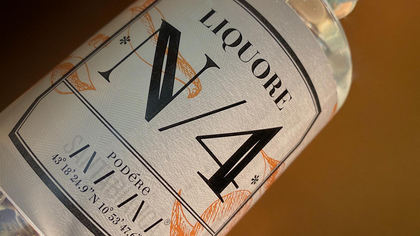 brand design Label packagikg spirit