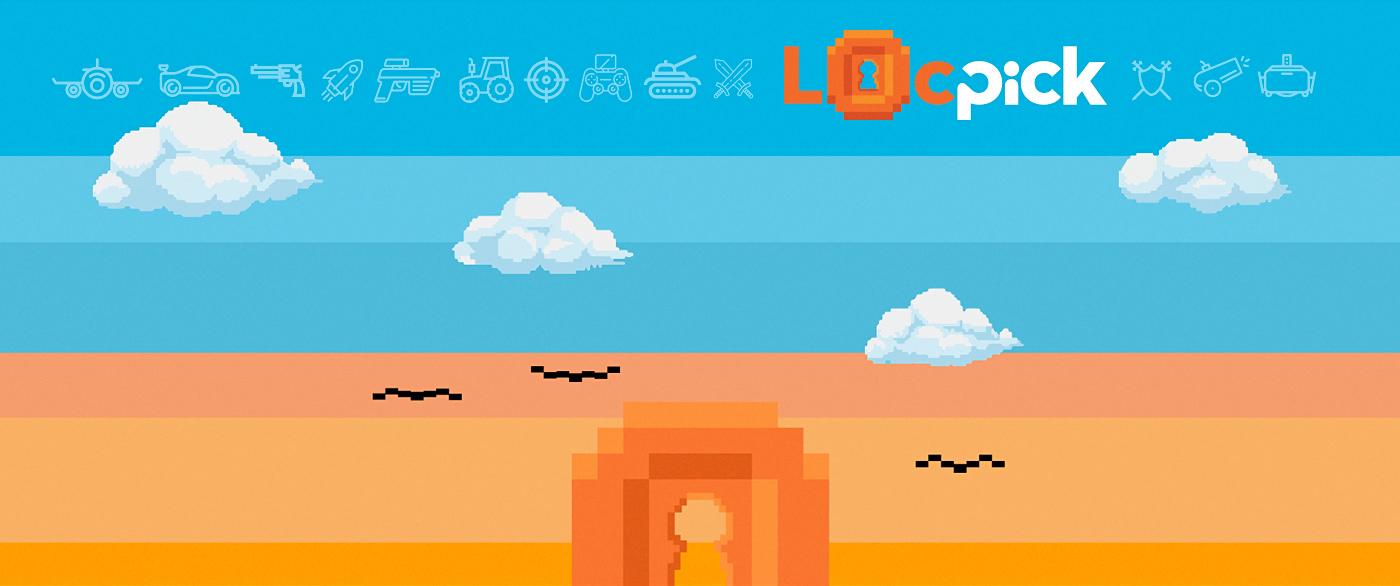 branding  logo pixel Retro